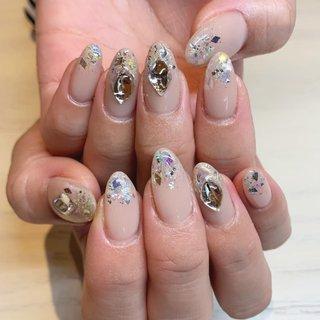 beige×aurora . . ありがとうございました♡ . . . #nail#nails #nailstagram #nailsalon#nailart #naildesign #gelnails #summernails #simplenails #ネイル#ネイルアート #ネイルサロン #ネイルデザイン #ジェルネイル #夏ネイル #シンプルネイル #プライベートサロン #プライベートネイルサロン #和泉府中#和泉府中ネイルサロン #泉大津#泉大津ネイルサロン #和泉市#和泉市ネイルサロン #オールシーズン #ライブ #クリスマス #ブライダル #ハンド #ワンカラー #ビジュー #ベージュ #シルバー #ジェル #お客様 #lily #ネイルブック