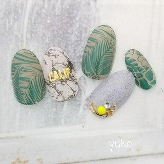 #夏 #ボタニカル #yuko #ネイルブック