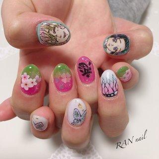 鬼滅の刃✨  蟲柱🦋胡蝶しのぶ 恋柱❤️甘露寺蜜璃   桜と蝶が蜜璃ちゃんとしのぶちゃんのイメージ✨ 素敵です(*´꒳`*)  今回の痛ネイルのオーダーのお客様ですが、あらかじめ手描きシールを描いておきました✨  通常よりも時短で完成できます(^ ^)   ご予約お問い合わせはこちら 電話番号 08094953019 メール rannail@i.softbank.jp ラインID rannail ブログ http://tamahirocchi.eshizuoka.jp  #鬼滅の刃ネイル#菊川市#掛川市#御前崎市#牧之原市#菊川市ネイルサロン#相良ネイルサロン#ランネイル#RAN nail#出張ネイル#自宅ネイルサロン#美爪育成 #美爪#paragel#パラジェル#秋ネイル#冬ネイル#鬼滅の刃#痛ネイル#鬼滅の刃#胡蝶しのぶ#胡蝶しのぶネイル#痛ネイル#菊川市痛ネイル#甘露寺蜜璃 #オールシーズン #ハンド #グラデーション #ラメ #フラワー #痛ネイル #ミディアム #ピンク #パープル #カラフル #ジェル #お客様 #RAN☆ #ネイルブック