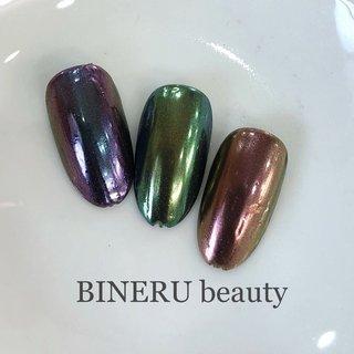 カメレオンミラーネイル✨❤️ #カメレオンミラーネイル #カメレオンミラー #ミラーネイル #BINERU beauty #静岡ネイルサロン #BINERU beauty #ネイルブック