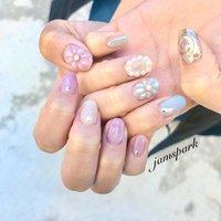 お花が主役のドロップ/パール囲み/うねうね/ミラーと盛り沢山だけと控えめくすみカラーの春ネイル🌼  #💅 #nails#gelnail #naildesign #designnail#springnail#nuancenail#dropnail#flowernail#colorfulnails #pinknail#3dnails #purplenails#datenail#girlynail#mirror#mirrornail#silver mirror#pearlnail#ネイル#ネイルデザイン#ニュアンス#ニュアンスネイル#女子力ネイル#デートネイル#フラワーネイル#花ネイル#パール囲み#立体#立体フラワー#ドロップネイル#水滴ネイル#凸凹ネイル#くすみカラー#ミラーネイル#パープル#うねうね#うねうねネイル#かわいいネイル#湘南 #藤沢 #江ノ島#nailie#ネイリー#englishoksalon #春 #オールシーズン #ブライダル #デート #ハンド #ラメ #フラワー #パール #水滴 #3D #ショート #ピンク #水色 #パープル #ジェル #お客様 #jamspark #ネイルブック