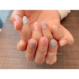#ドット #春 #Nail Salon Rose,h #ネイルブック