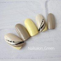 定額デザイン お好きお色に変更可能です♪  #シンプル #オールシーズン #デート #女子会 #ハンド #シンプル #ホワイト #イエロー #グレージュ #ジェル #Nailsalon_Green #ネイルブック