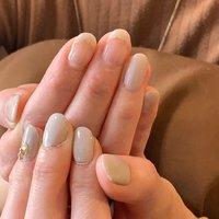 #フレンチネイル#シンプルネイル #自分ネイル #一色塗りネイル  #利き手と反対の手で描いています #Rei #ネイルブック
