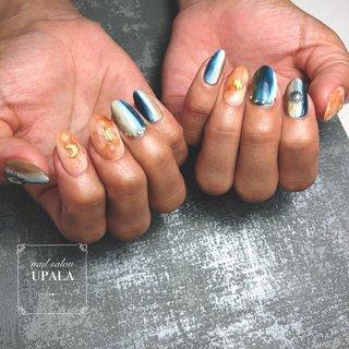 . . . . ネイティブ☆ 夏っぽく仕上がりました🌞  . . . .  . . . #ジェルネイル #グラデーション #nail #nails #nailart #nailswag #nailpolish#springnails #夏ネイル #summernail #foot nail #フットネイル #春ネイル #春ネイルデザイン #ニュアンス #ニュアンスネイル #オトナ女子ネイル #シェル #ミラーネイル #メタリック #メタリックネイル #ピンク #ネイティブ #シンプルネイル #大阪ネイル #岸和田ネイル #nailsalonupala #upala #夏 #オールシーズン #リゾート #ハンド #ネイティブ #ボヘミアン #ホワイト #ネイビー #アースカラー #ジェル #お客様 #upala Mayuko #ネイルブック