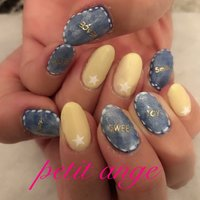 ❤︎.* ✨👖💅🏻ℕ𝕖𝕨 𝕟𝕒𝕚𝕝 💅🏼👖✨ #springnails #denimnail #yellow #star #☆ #ジェルネイル#ジェルネイルデザイン#ジェルネイルアート #春ネイル #gelnails #gelnailart #gelnaildesign #nail #nailstagram  #美爪#美甲 #젤네일 #젤네일아트 #젤네일디자인 #Nail salon Petit ange #ネイルブック