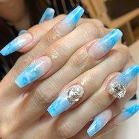 #デザスカ #スカルプチュア #Tiara nail #ネイルブック