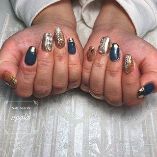 . . . . こちらのくすみブルーがとっても人気❣️ ラメ、ミラーと合わせて夏先取りな雰囲気に✨  . . . #ジェルネイル #グラデーション #nail #nails #nailart #nailswag #nailpolish#springnails #春ネイル #春ネイルデザイン #夏ネイル #夏ネイルデザイン #summernail #ニュアンス #ニュアンスネイル #オトナ女子ネイル #シェル #ミラーネイル #メタリック #メタリックネイル #ピンク #シンプルネイル #大阪ネイル #岸和田ネイル #nailsalonupala #upala #夏 #オールシーズン #梅雨 #女子会 #ハンド #変形フレンチ #チェーン #ニュアンス #ミラー #ネイビー #ブラウン #ゴールド #ジェル #お客様 #upala Mayuko #ネイルブック