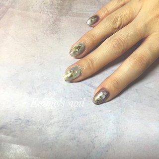 #ハンド #ニュアンス #ミラー #Emma's nail by nami #ネイルブック
