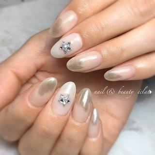 #星 #ぬりかけネイル #ミラーネイル #nail & beauty éclat❥ #ネイルブック