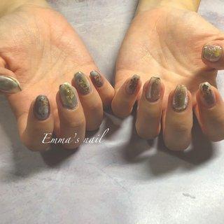 #ハンド #ニュアンス #ミラー #ジェル #Emma's nail by nami #ネイルブック