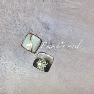 #フット #シェル #ニュアンス #ミラー #Emma's nail by nami #ネイルブック