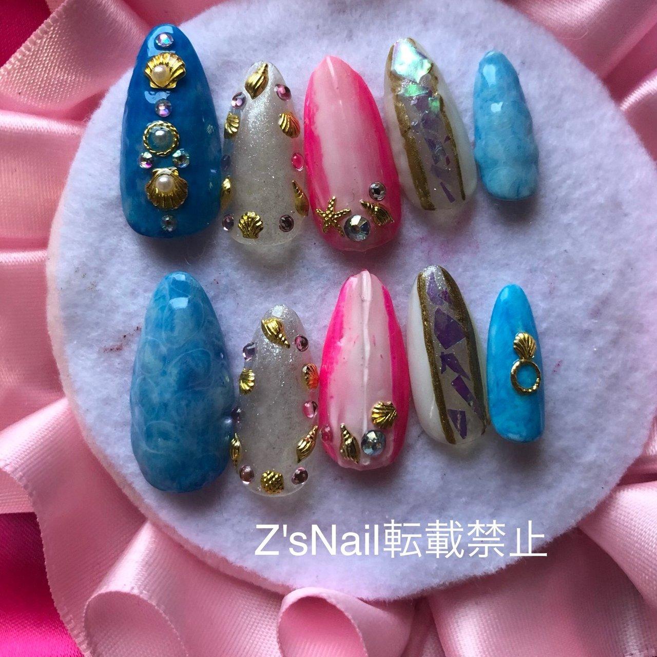 #夏ネイル #ジェルネイル #Z's nail #ネイルブック