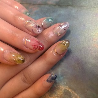 colorful painting デザイン🎨  #paint#colorful#nuance  #nailsbymai#fanctiquesnail#佐世保#佐世保ネイル#佐世保ネイルサロン#佐世保ネイリスト#佐世保ホワイトニング#佐世保セルフホワイトニング#佐世保パーソナルネイリスト#佐世保パーソナルネイルサロン #ハンド #MAI #ネイルブック