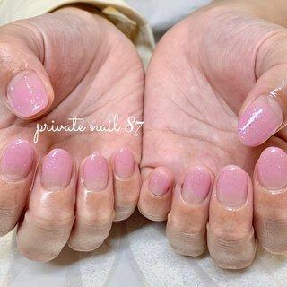 #グラデーション #ピンク #シンプル #オールシーズン #nails #ネイル #パラジェル #プライベートサロン #名古屋市緑区ネイルサロン #自宅ネイルサロン #プライベートネイルサロン #オールシーズン #ハンド #グラデーション #ピンク #ジェル #お客様 #maki #ネイルブック