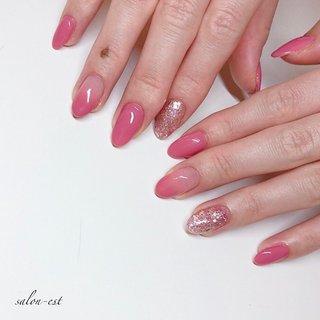 #ピンク#春 #きれいめネイル #オフィス #salon_est #ネイルブック