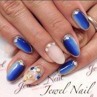 #夏 #海 #リゾート #浴衣 #ハンド #ラメ #ワンカラー #グラデーション #ビジュー #シェル #ロング #ベージュ #水色 #ブルー #ジェル #お客様 #JEWEL SALON total beauty【旧jewel nail】 #ネイルブック
