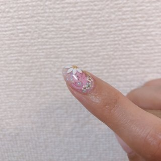 #お花ネイル #フラワー #フラワーネイル #ネコネイル #猫ネイル #可愛い #可愛いネイル #ピンク #ピンクネイル #クリアネイル #クリア #夏 #春 #手描きデザイン #手描きアート #ジェル #ネイル #sachinail #ネイルブック