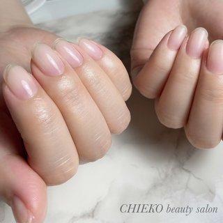 #美しい爪 #美爪 #クリアネイル #自爪を傷めない #夏 #オールシーズン #オフィス #ブライダル #ハンド #シンプル #クリア #ジェル #お客様 #3chum #ネイルブック
