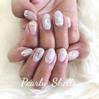 お任せネイル  #お任せネイル #ニュアンスネイル #大人ニュアンス #盛岡ネイルサロン #ジェル #ジェルネイル #天然石ネイル #kawaii #pearlyshells #pearly.shell.s #ネイルブック