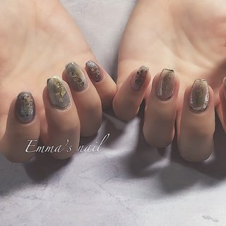 #ハンド #ニュアンス #ミラー #ジェル #お客様 #Emma's nail by nami #ネイルブック