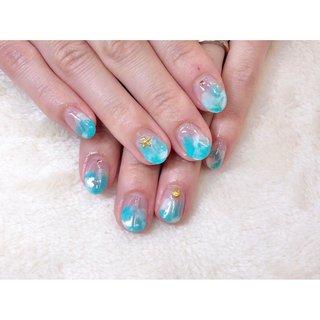 🍧🧊🍬💙 ご来店ありがとうございました🙇♀️💓 ・ ネット予約はネイルブックにて承っております #nails #nail#naildesign #nailart #ネイルアート#ニュアンスネイル#マーブルネイル#水色ネイル#夏ネイル#仙台ネイルサロン #お客様 #高橋 #ネイルブック