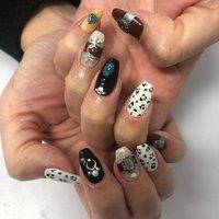 #コンチョネイル #豹柄ネイル   お爪が細長でデザインもすっごくお似合いでした❤︎ #Nail room miel #ネイルブック