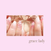 #ワンカラー #フラワー #ホワイト #ピンク #パステル #nailsalon&school grace lady(グレースレディ) #ネイルブック