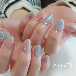 パーツ遊び ╮(. ❛ ᴗ ❛.) & カラーはお好みに合わせてミキシング✨  #シンプルネイル #ワンカラーネイル #メタルパーツ  #vetro #pink #nail #nails #nailsalon #instanails #nailswag #nailstagram #nailart #naildesign #gelnails #manicurist #ネイル #ネイルデザイン #大人ネイル #ジェルネイル #ネイルサロン #八潮市 #八潮ネイル #八潮ネイルサロン #足立区ネイルサロン#北千住ネイルサロン #六町ネイル #三郷ネイル #草加ネイル #自宅サロン #kicco_k #オールシーズン #オフィス #デート #女子会 #ハンド #シンプル #ワンカラー #ブローチ #ワイヤー #ミディアム #ピンク #水色 #グレー #ジェル #お客様 #kicco_k.nail #ネイルブック