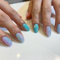 #縦グラデーション #たらしこみフラワーネイル #Tiara nail #ネイルブック