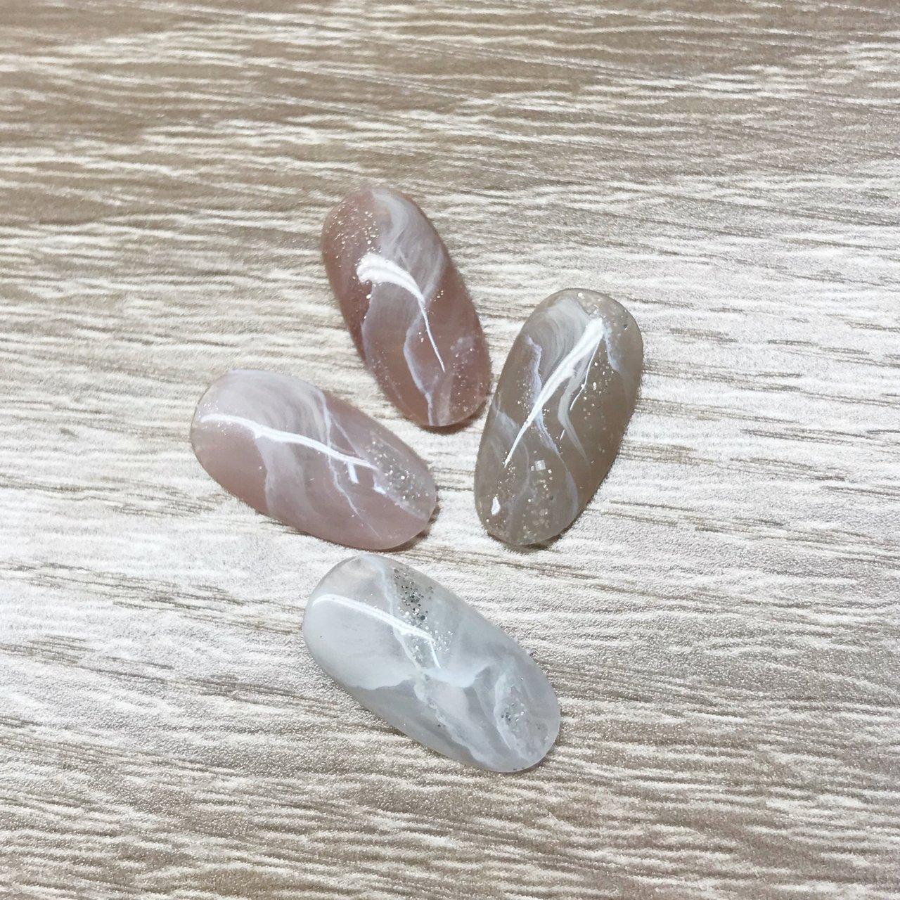 #天然石ネイル#天然石アート#夏ネイル#ニュアンスネイル #nail salon PROTEA #ネイルブック