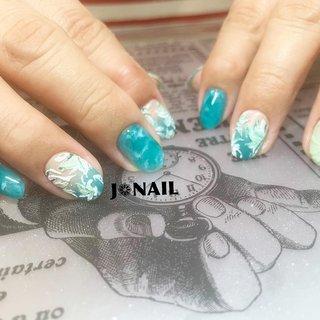 """•ノーマルコース❁︎• 持ち込み画像参考❁︎ ブルーだったネイルを グリーンに変更してからのアレンジ❁︎ テラコッタジェルでフラワーを❁︎ いい感じに仕上がりました♡♡ お気に召されたようで♥♥♥ ご予約はDM.LINE.Nailie.Nailbookにて受け付けております*˙︶˙*)ノ""""  @agehanails  @agehagel  @presto_official_nl  #GEL#NAIL#GELNAIL#gel#nail#gelnail #agehagel#Prestogel #naildesign#nailart #ジェル#ネイル#ジェルネイル#ジェルアート#ジェルデザイン#ネイルアート#ネイルデザイン#グリーンネイル#ショートネイル#タイダイネイル#3Dネイル #女子#女子力 #モチベーションアップ #テンションあがるッ!! #大阪ネイル#堺市ネイル#堺市西区ネイルサロン #J❁︎NAIL #夏 #オールシーズン #梅雨 #海 #ハンド #フラワー #アンティーク #3D #タイダイ #ニュアンス #ショート #グリーン #ターコイズ #ジェル #お客様 #★ぢゅん★ #ネイルブック"""