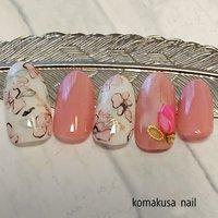 やわらかお花ネイル  #お花ネイル#やわらかお花ネイル#ワンカラー#ピンクネイル #オールシーズン #ネイルチップ #komakusanail #ネイルブック