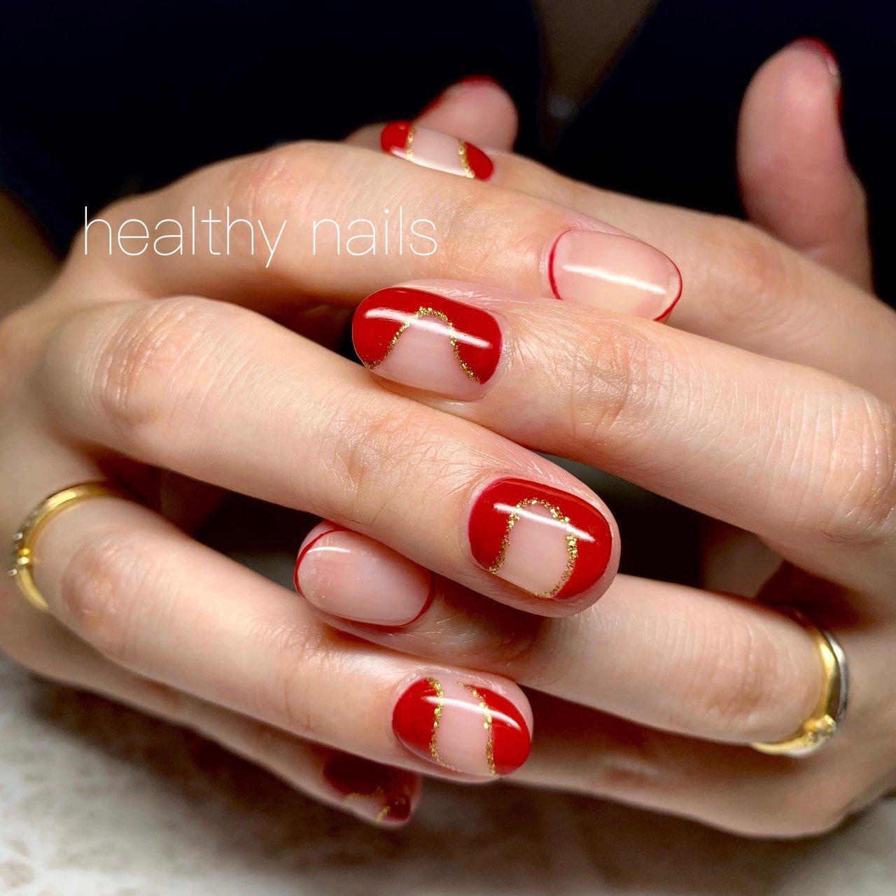 #個性派ネイル #オールシーズン #ショート #healthy nails #ネイルブック