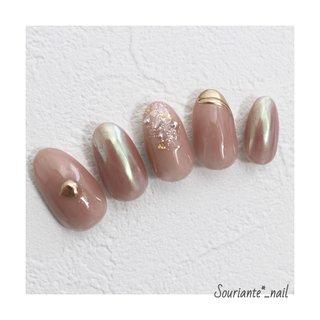 #ピンク #ミラー #シェル #ミラーネイル #シェルネイル #春 #夏 #ハンド #ジェル #souriante_nail #ネイルブック
