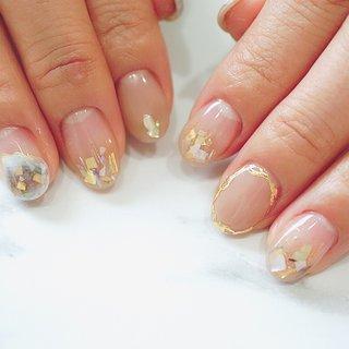 #グラデーション#夏ネイル#ジェルネイル#シェル#かわいい #ange nail salon #ネイルブック