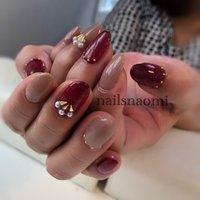 #福岡ネイル #nailsnaomi_ #nailstagram #nails #nail #ボルドーネイル #nailsnaomi_ #ネイルブック