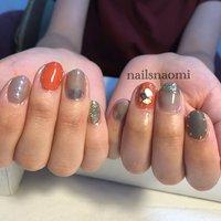 #オレンジ #フットネイル #福岡ネイル #nailsnaomi_ #nailstagram #nails #nailsnaomi_ #ネイルブック