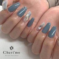 . 💙💙💙 . #ニュアンスネイル #ニュアンス #nail #hand #footnail #nailart #nails #nailstagram #instanails #instanail #gelnails #フィルイン #一層残し #福島市ネイル #福島市ネイルサロン #Cherimo #プライベートネイルサロン#nailbook #Cheri'mo #ネイルブック
