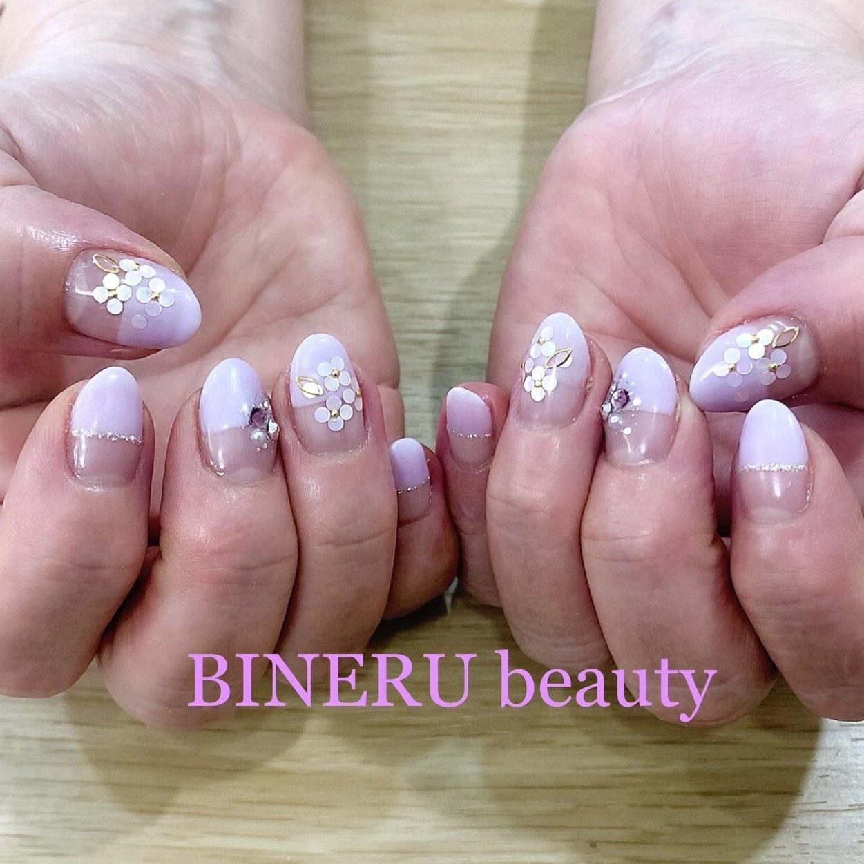 紫陽花ネイル💙💕 #紫陽花ネイル #紫ネイル #フラワーネイル #BINERU beauty #静岡ネイルサロン #BINERU beauty #ネイルブック