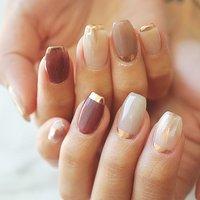 #ミラーネイル#シンプル #ニュアンス #グレージュ #かわいい #ange nail salon #ネイルブック