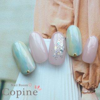 #大人かわいいネイル #きれいめネイル  #キレイめネイル #ハンド #ネイルチップ #nail room copine #ネイルブック