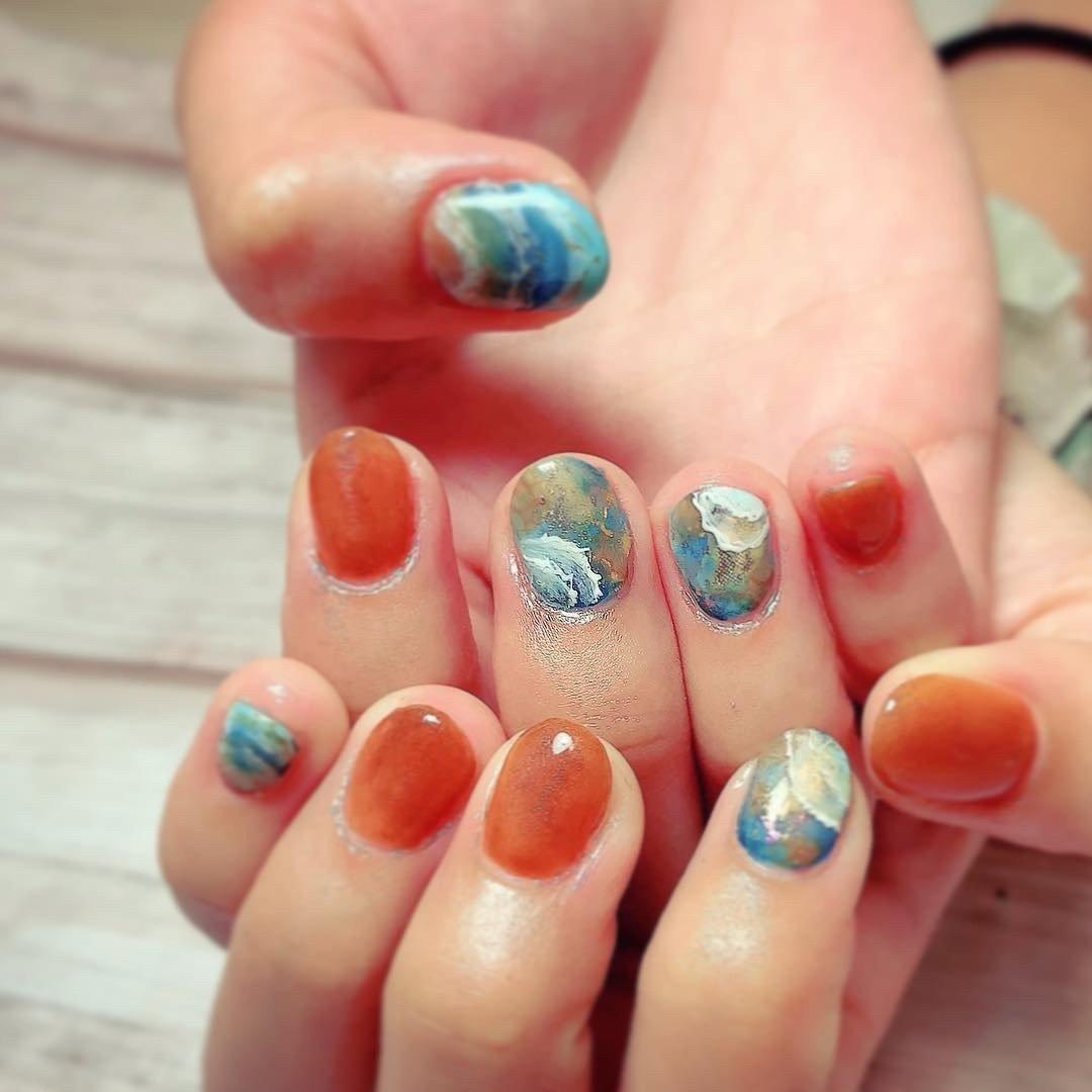 ❈ ❈ #夏ネイル#summernails  #湘南ネイル #glassy wave【グラッシーウェーブ】 #ネイルブック