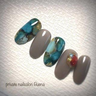 ✧ #oilターコイズ ⋆*❁*⋆.。* ✧ nail_miki #miki先生デザイン アレンジ vetro_tokyo bellaforma_japan ✧ ※サロンは現在休業中です ✧ #nail #nails #instanail #instanails #lovenails #cutenails #gelnails #gelnail #nailsdesign #nailfashion #ネイル #ネイルデザイン #ネイルスタグラム #ネイルアート #ジェルネイル #インスタネイル #💅 #大人ネイル #埼玉ネイル #上尾ネイル #上尾ネイルサロン #春ネイル #冬ネイル #美甲 #凝胶钉 #젤네일 #private nailsalon Buena #ネイルブック