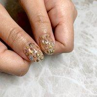 #オールシーズン #ショート #healthy nails #ネイルブック