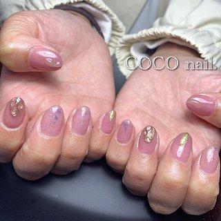 #ハンド #シンプル #ラメ #ニュアンス #ミラー #ピンク #coco.nail3.1 #ネイルブック
