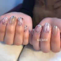マーブルとミラー #nail #nails #nailsnaomi_ #シンプルネイル #福岡市 #福岡ネイル #城南区ネイル #nailsnaomi_ #ネイルブック