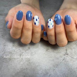 #梅雨 #ブルー#雨#しずくネイル #Nailsalon- forme #ネイルブック