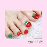 #シンプル #ワンカラー #フルーツ #nailsalon&school grace lady(グレースレディ) #ネイルブック