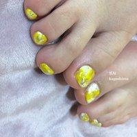 #幸せの黄色のフットネイル #夏 #フット #鹿児島*出水 Nailsalon爪屋 #ネイルブック